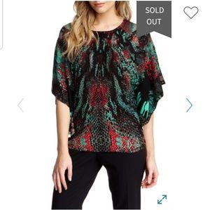 Alberto Makali Velour Kimono Sleeve Top M